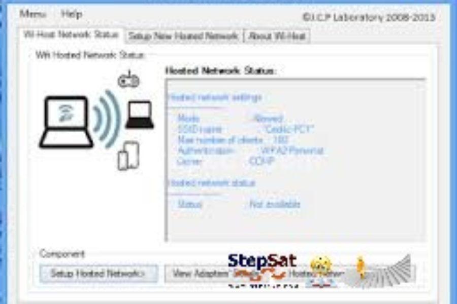 إنشاء اتصال وايرلس عن طريق برنامج Wi-Host