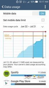 إلغاء تفعيل البيانات
